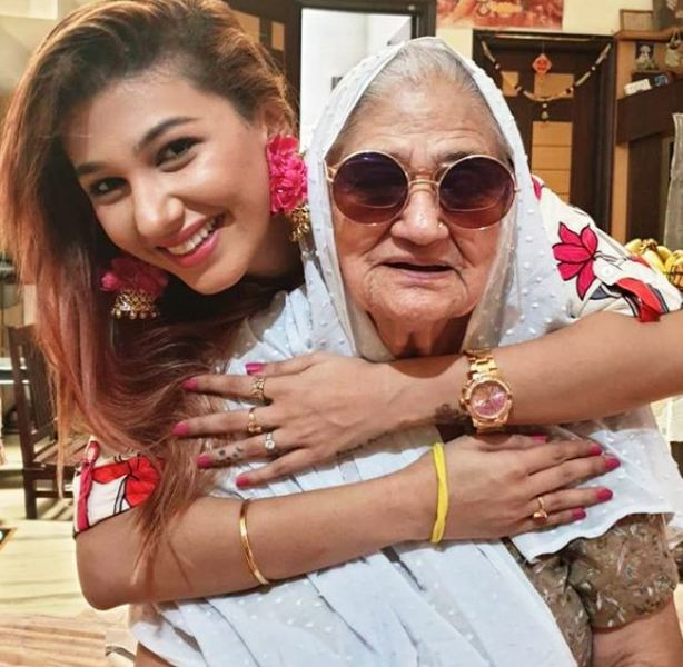 Jasleen Matharu With Her Grandmother