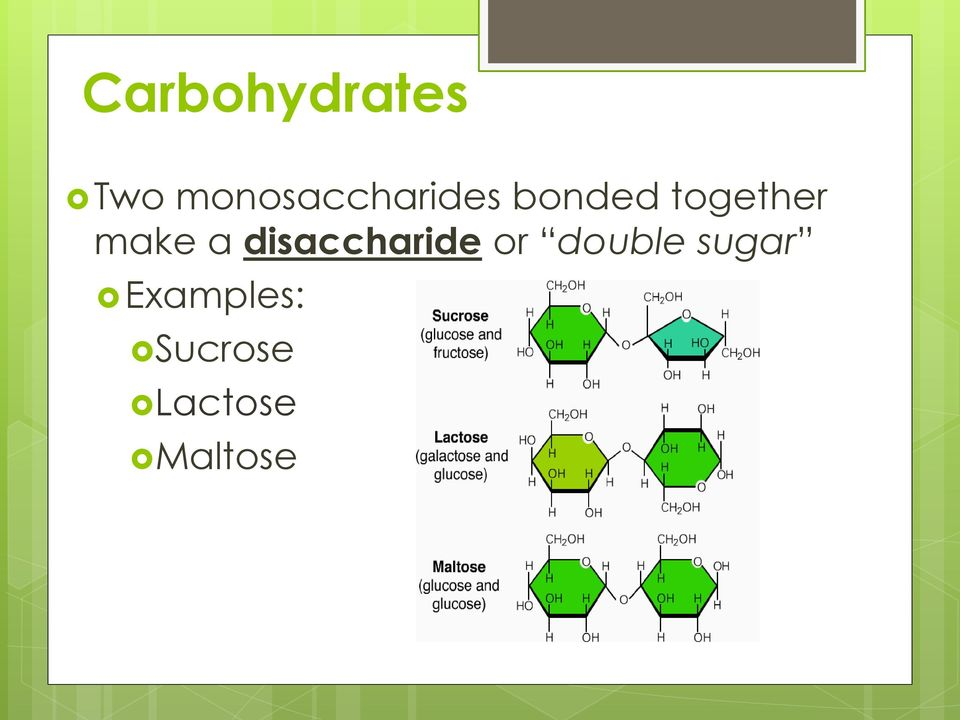 together make a disaccharide