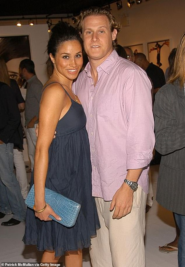Meghan Markle, 37, made her first husband Trevor Engelson (pictured in 2006) sign an agreement that he would pay for a personal trainer and a nutritionist if they had a baby
