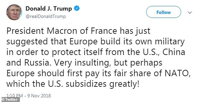 Trump lashed out at Macron