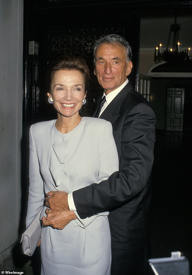 Lee Radziwill married three times. she split from her third husband, Herb Ross (pictured right at their wedding reception) in 2001