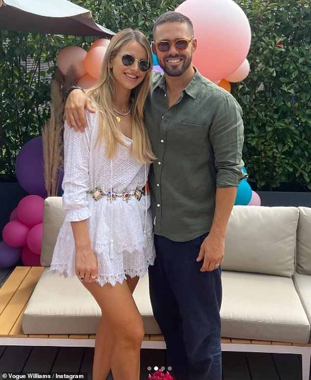 Celebrations: Vogue Williams shared a series of snaps from her husband Spencer Matthew