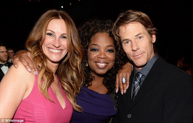They like the A-list crowd: The power couple with Oprah Winfrey in 2014