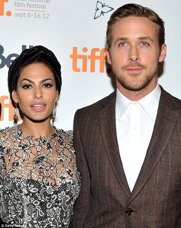 Happy mom: Eva Mendes opened up about her family, Ryan Gosling, 37, and a return to acting to E! News as she headed into her New York & Company fashion show at the Palace Theater in Los Angeles