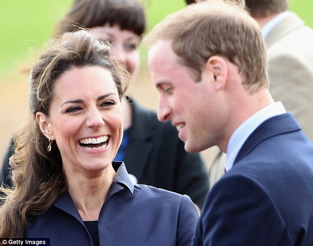 Comfortable in the limelight: Following their engagement, Kate has appeared relaxed, despite the constant media attention