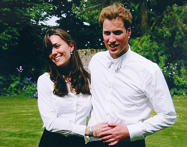 Young love: School friends say Kate never had any serious boyfriends before she met Prince William at St Andrews University