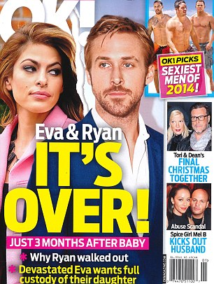 OK! Magazine claims that the couple are on the verge of a split with the pressure of being new parents becoming too much