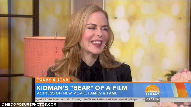 Loves to laugh: Nicole Kidman smiled her way through an interview on the Today show Tuesday while promoting her new film Paddington