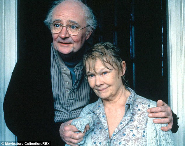 Adaptation: The couple were played by Jim Broadbent and Judi Dench (pictured) in the film version of Iris