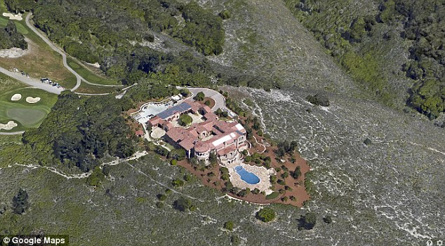 Sandera now lives in the $20million mansion (above) Eastwood recently completed building in Carmel, California