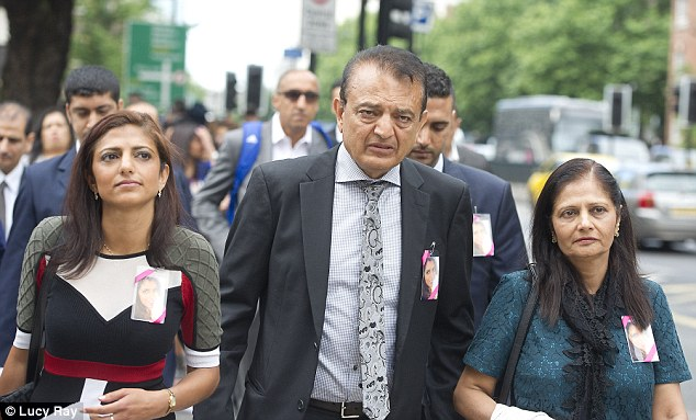 The family of Anni Dewani leave  Westminster Magistrates Court in 2013. Pictured left to right,  Anni