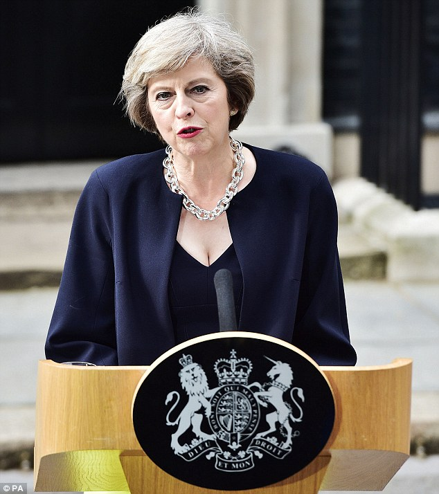 Sir David Tang said of Theresa May: 'Her secret is her occasional cleavage which makes her look rather sexy