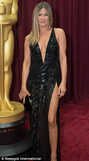 Pictured, Jennifer Aniston at the Oscars in 2017