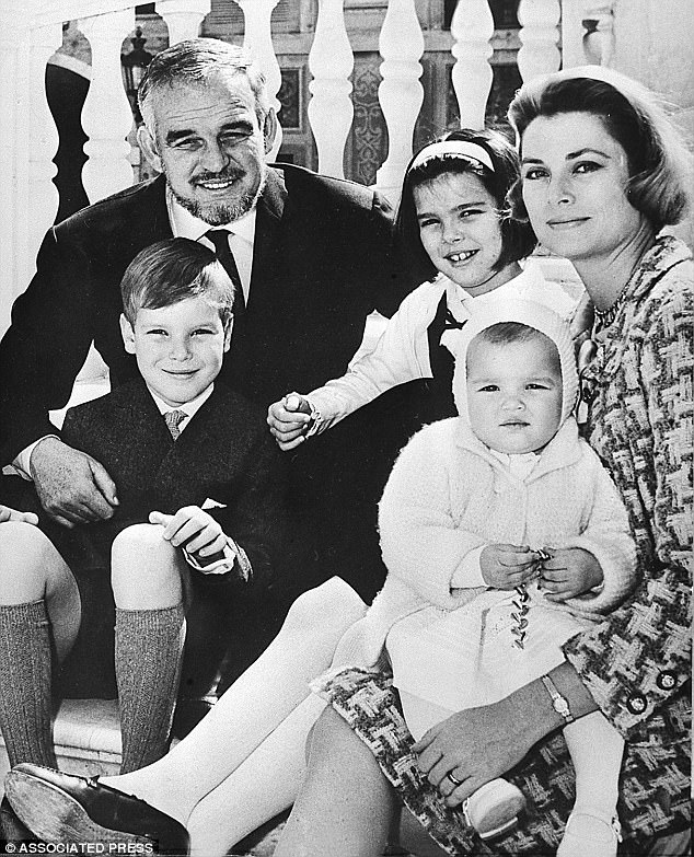 Princess Grace and Prince Rainier of Monaco often took their three royal children, Caroline, Albert II, and Stéphanie to the suburban home. Pictured together in 1966