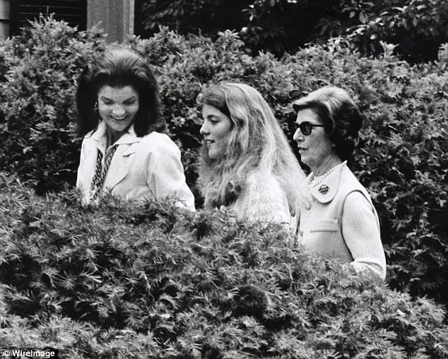 Jackie Kennedy Onassi pictured with her daughter Caroline and her mother Janet