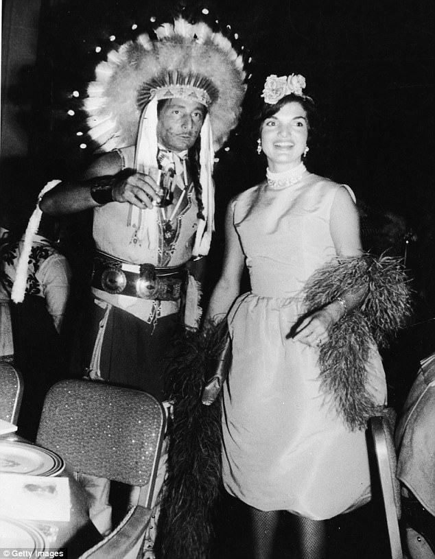 She chose Oleg Cassini (pictured at a costume party)  as her main fashion designer, wanting only original designs that