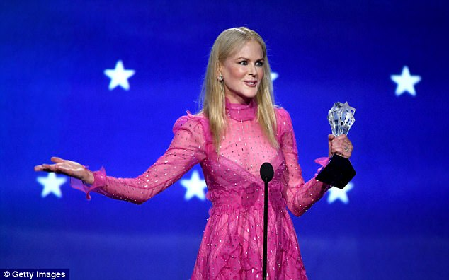 There it is! Nicole Kidman wins Best Actress for her role in Big Little Lies at the Critics