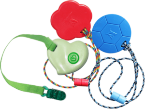 Chew pendants : Redirect nail biting to a chewy, like SentioCHEWS or KidCompanions Chewelry, chewing gum...