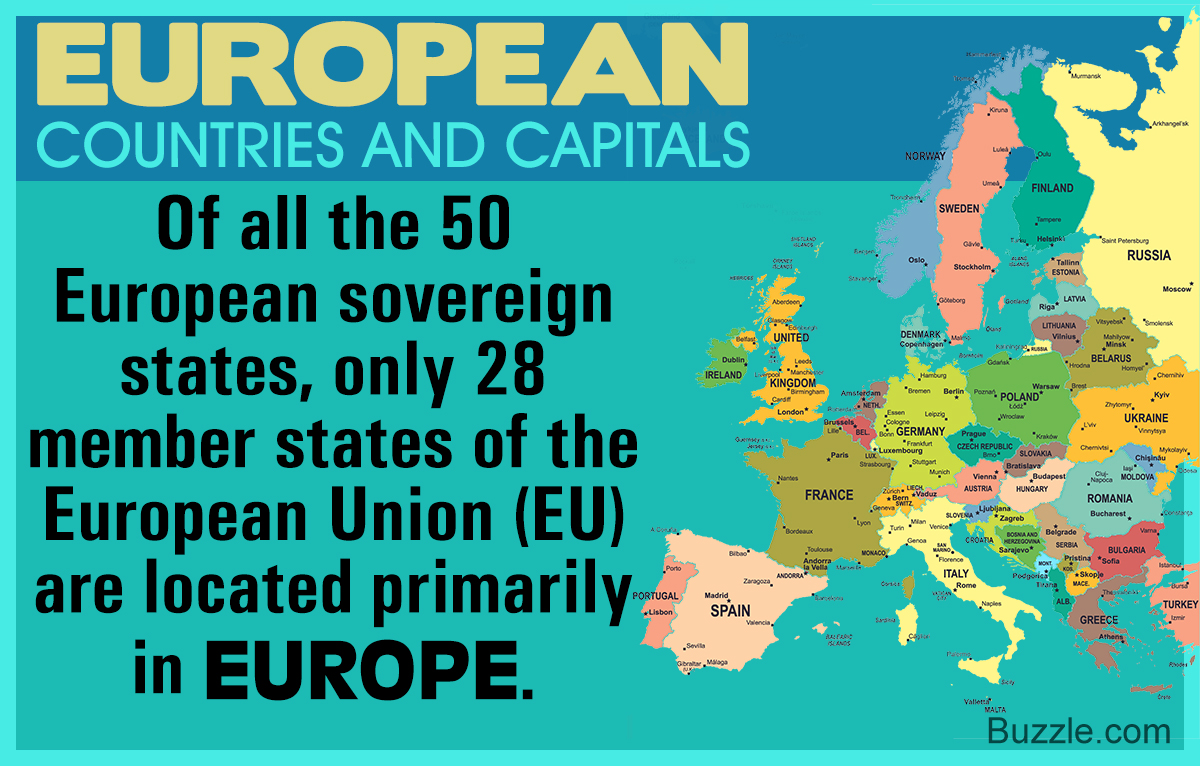 List of European Countries and Capitals
