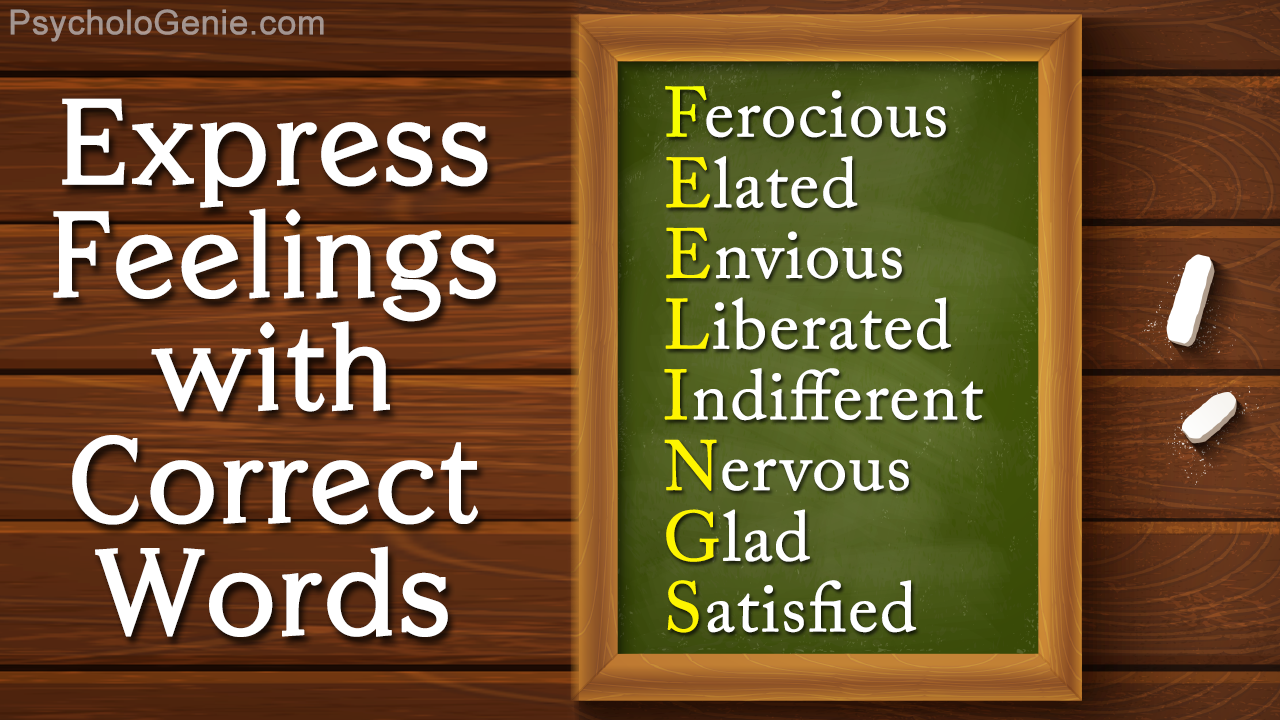 List of Words to Express Feelings
