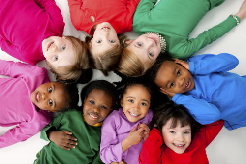 Diverse grouping of children