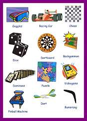 Games vocabulary for kids