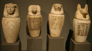 Canopic Jars picture taken by photo Nina Aldin Thune